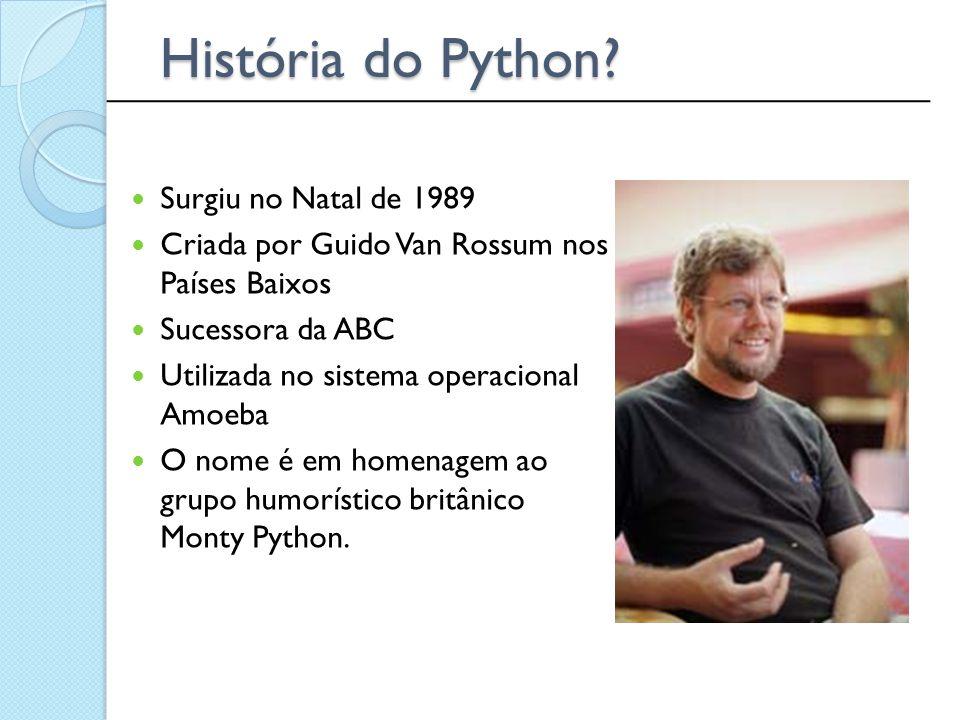 História do Python ______________________________________________