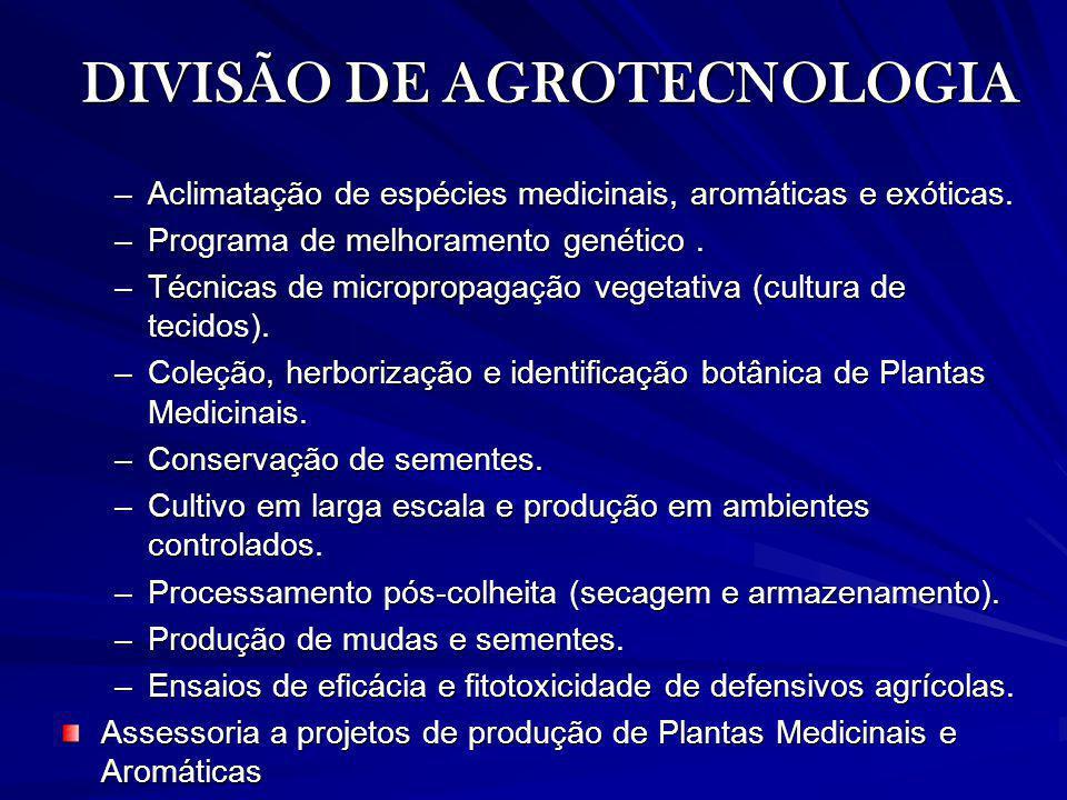DIVISÃO DE AGROTECNOLOGIA