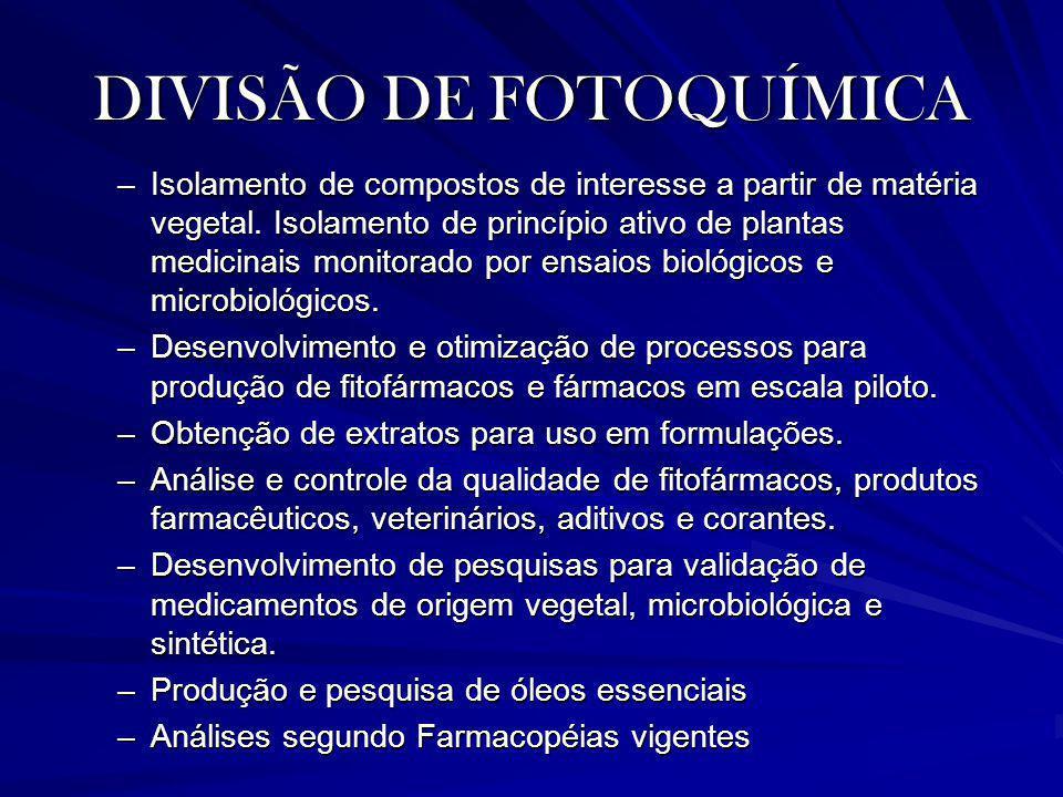 DIVISÃO DE FOTOQUÍMICA