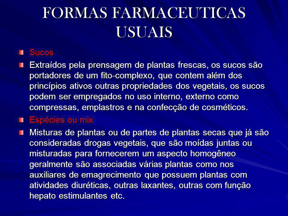 FORMAS FARMACEUTICAS USUAIS
