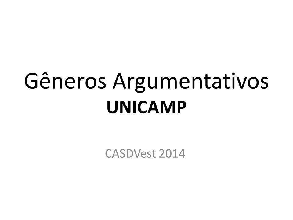 Gêneros Argumentativos UNICAMP