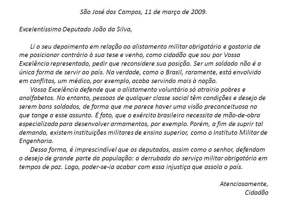 São José dos Campos, 11 de março de 2009.