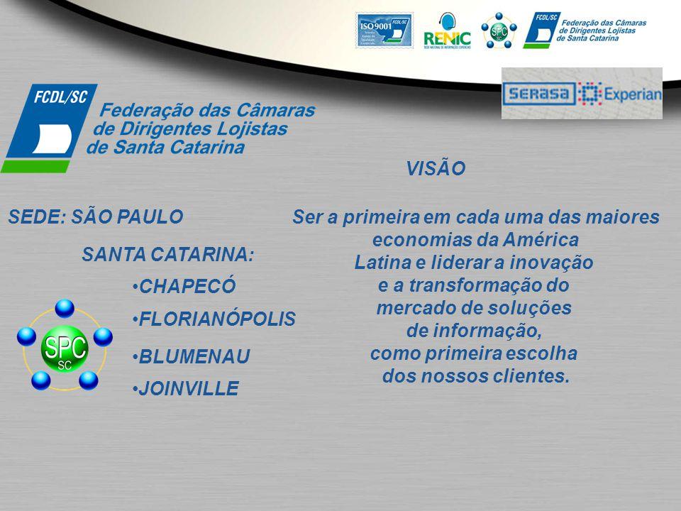 Ser a primeira em cada uma das maiores Latina e liderar a inovação