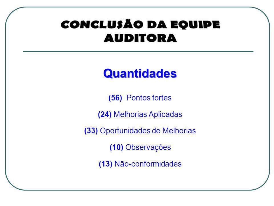 CONCLUSÃO DA EQUIPE AUDITORA