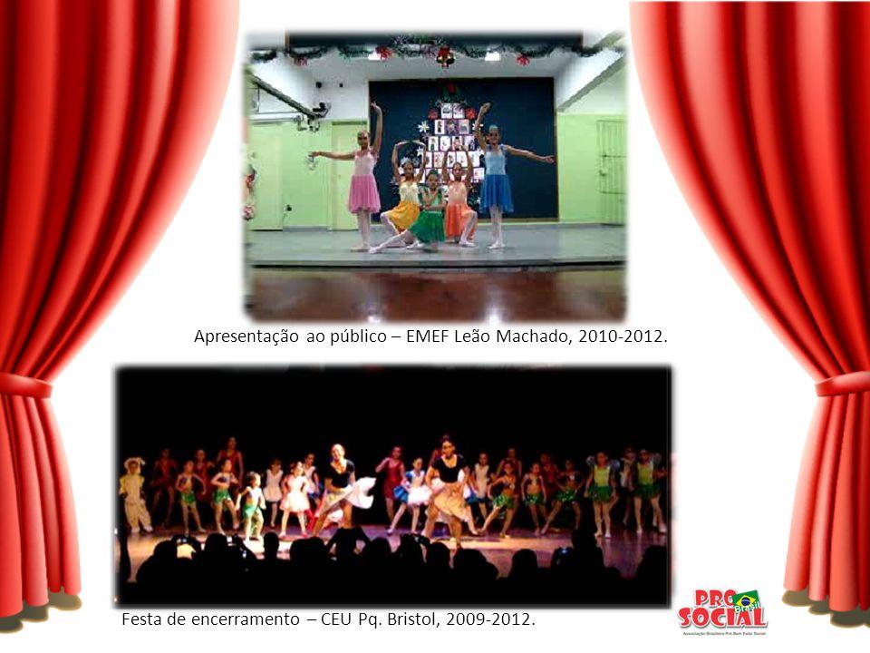 Apresentação ao público – EMEF Leão Machado, 2010-2012.