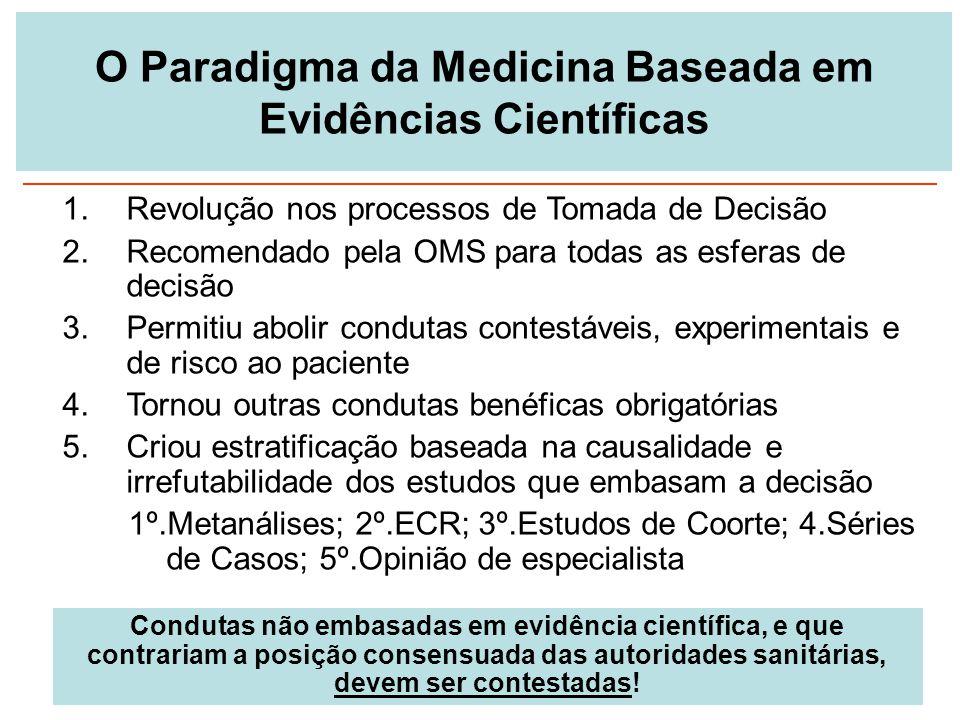 O Paradigma da Medicina Baseada em Evidências Científicas