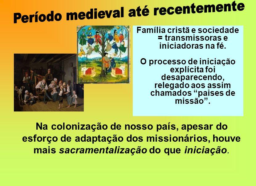 Família cristã e sociedade = transmissoras e iniciadoras na fé.