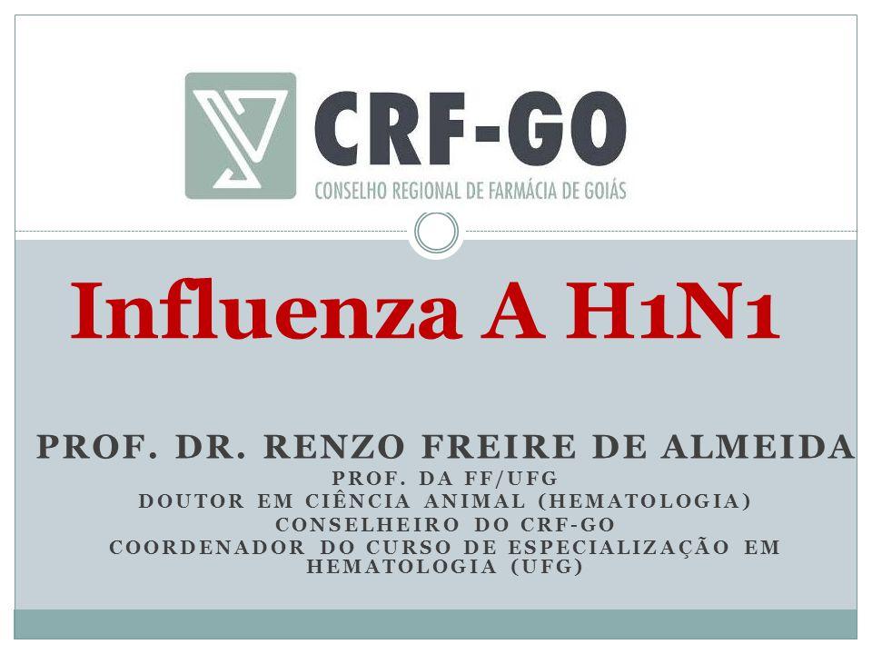Influenza A H1N1 PROF. DR. RENZO FREIRE DE ALMEIDA PROF. DA FF/UFG