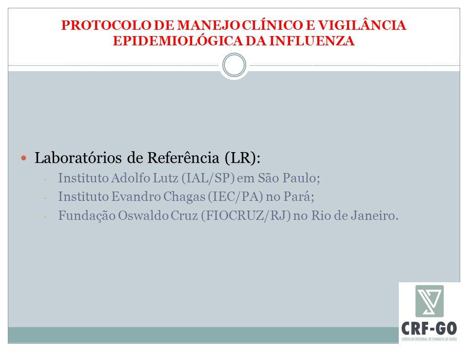 PROTOCOLO DE MANEJO CLÍNICO E VIGILÂNCIA EPIDEMIOLÓGICA DA INFLUENZA