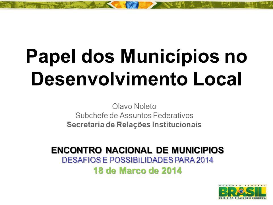 Papel dos Municípios no Desenvolvimento Local