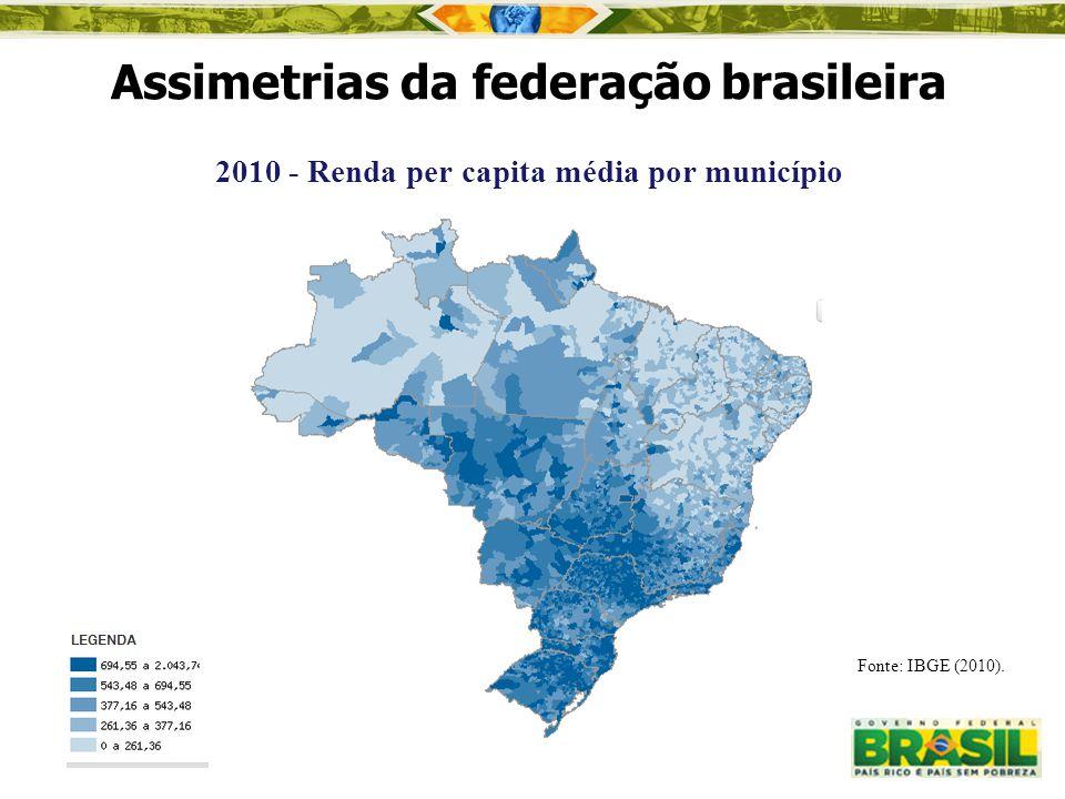2010 - Renda per capita média por município