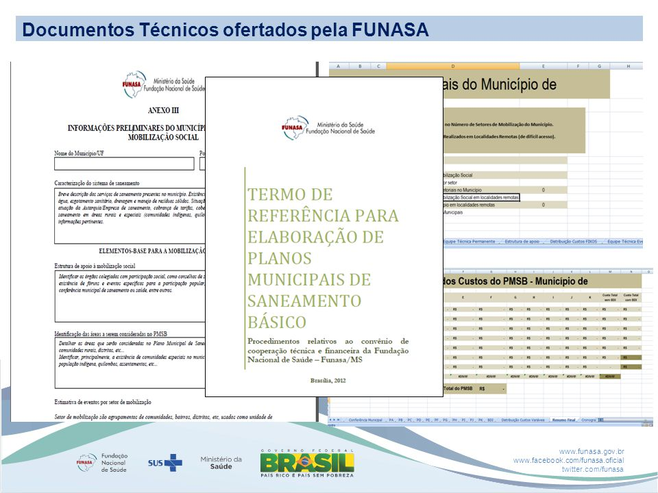 Documentos Técnicos ofertados pela FUNASA