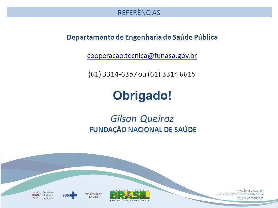 Departamento de Engenharia de Saúde Pública FUNDAÇÃO NACIONAL DE SAÚDE