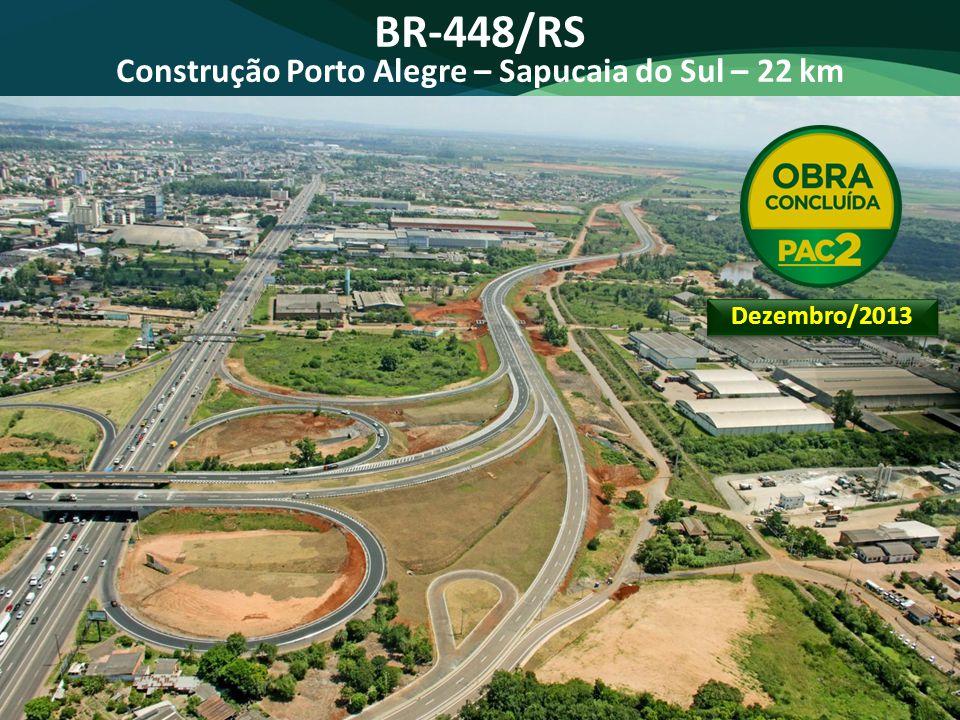 Construção Porto Alegre – Sapucaia do Sul – 22 km