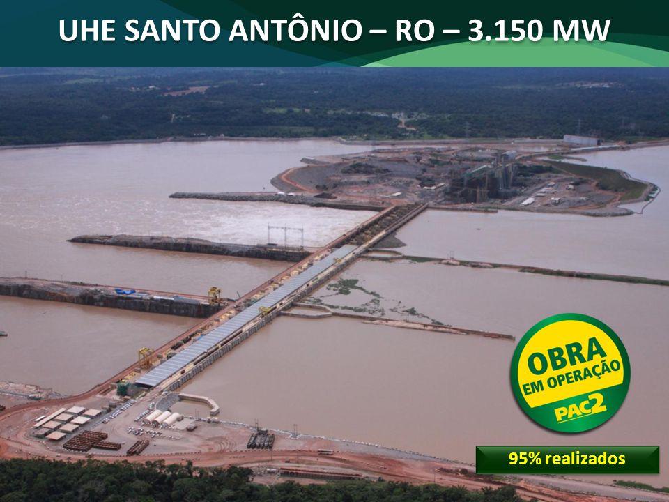 UHE SANTO ANTÔNIO – RO – 3.150 MW
