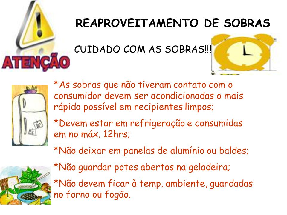 REAPROVEITAMENTO DE SOBRAS