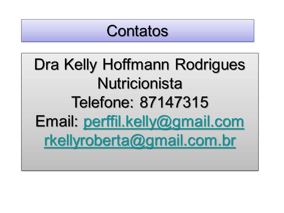 Dra Kelly Hoffmann Rodrigues Nutricionista Telefone: 87147315