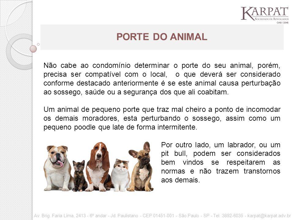 PORTE DO ANIMAL