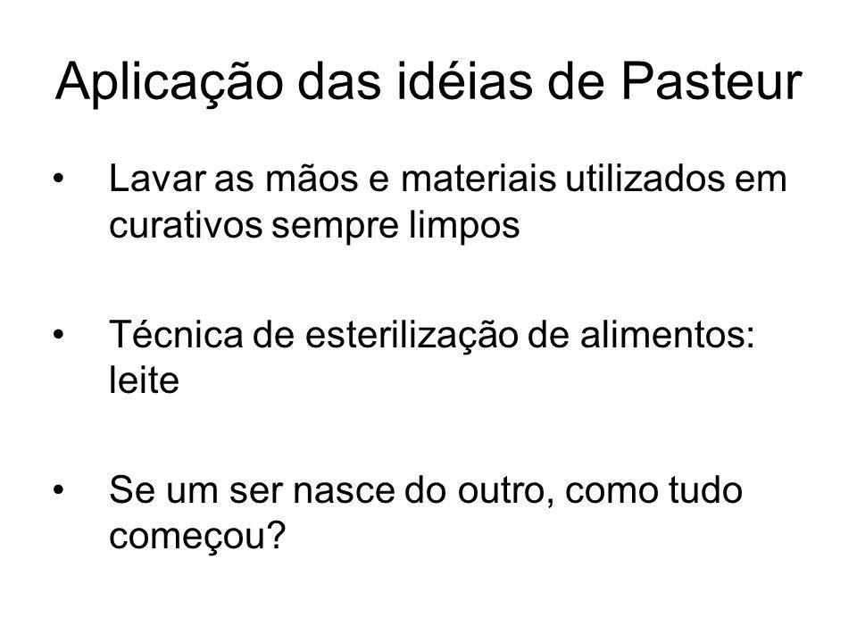 Aplicação das idéias de Pasteur
