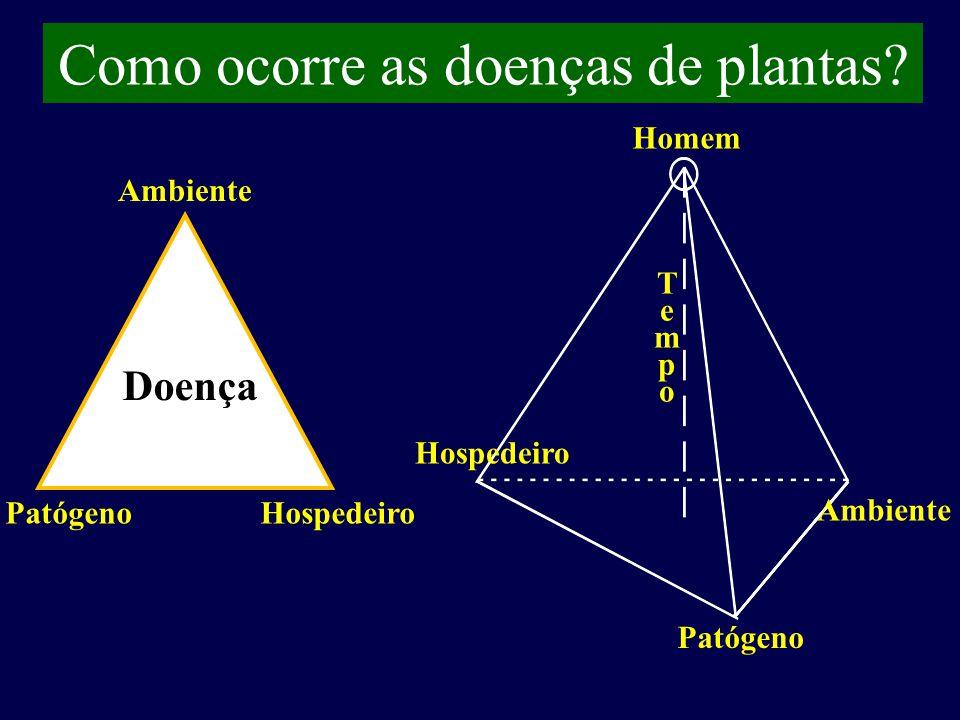 Como ocorre as doenças de plantas