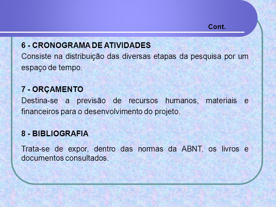 6 - CRONOGRAMA DE ATIVIDADES