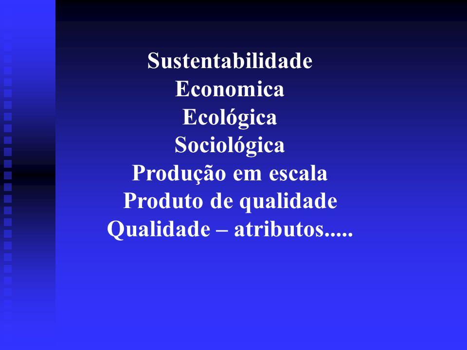 Sustentabilidade Economica. Ecológica. Sociológica.