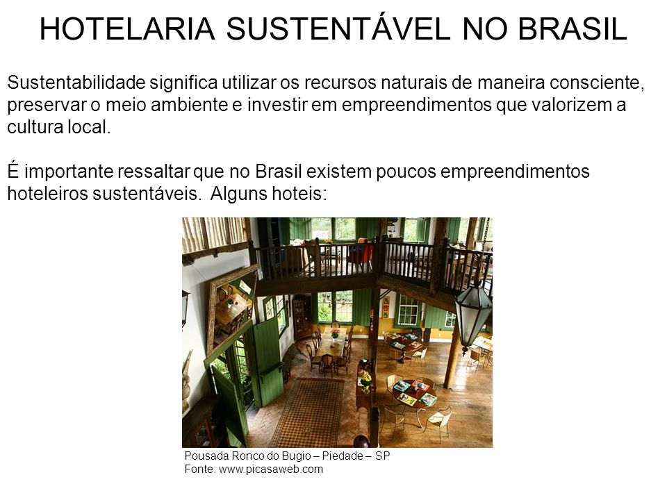 HOTELARIA SUSTENTÁVEL NO BRASIL