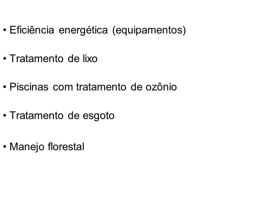 • Eficiência energética (equipamentos)