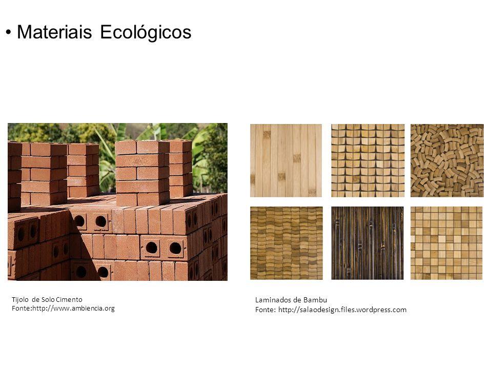 • Materiais Ecológicos