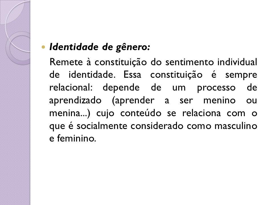 Identidade de gênero: