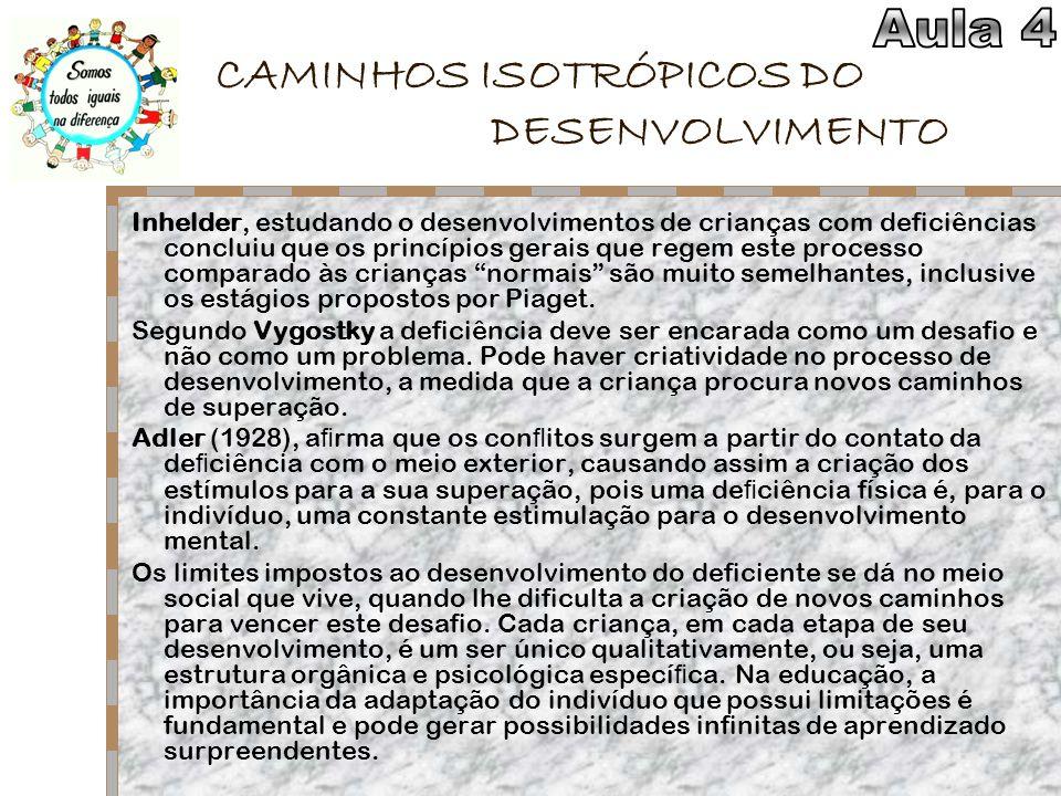 CAMINHOS ISOTRÓPICOS DO DESENVOLVIMENTO