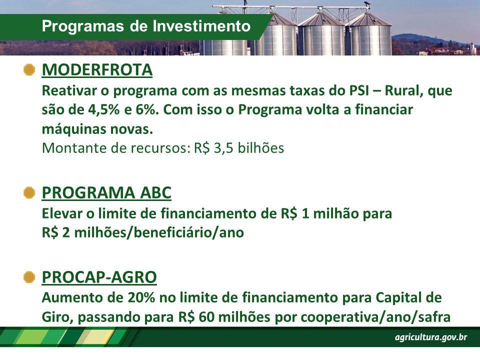 Programas de Investimento