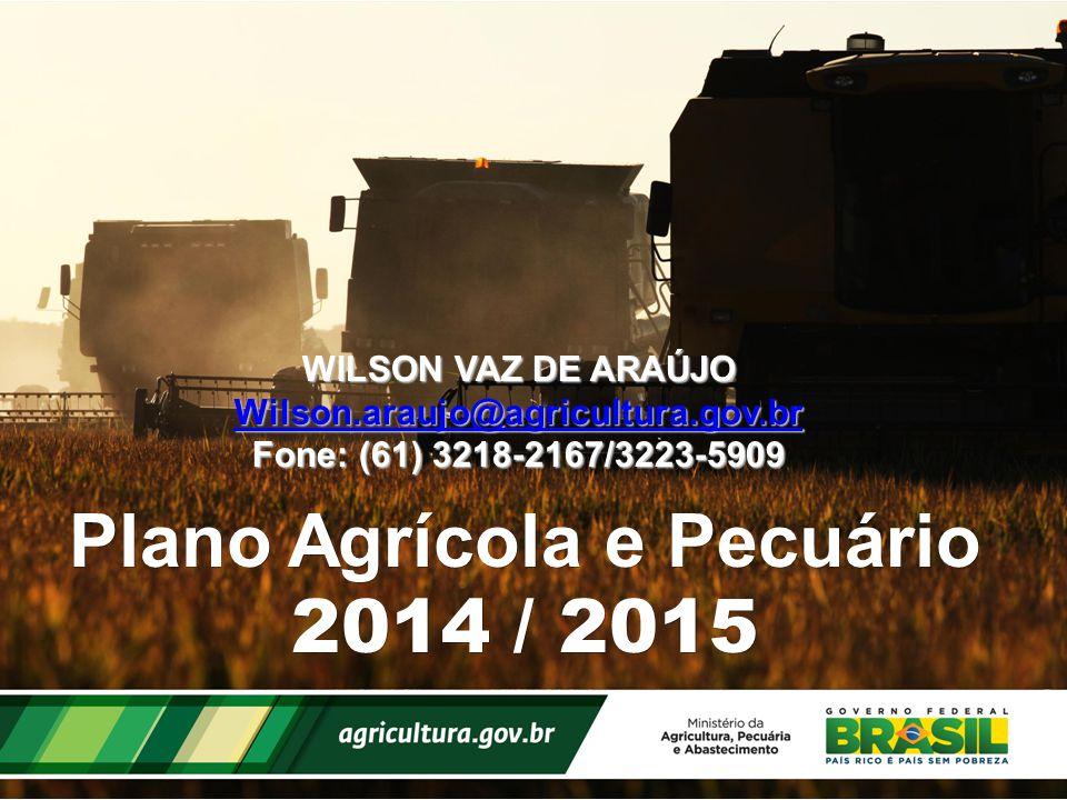 Plano Agrícola e Pecuário 2014 / 2015