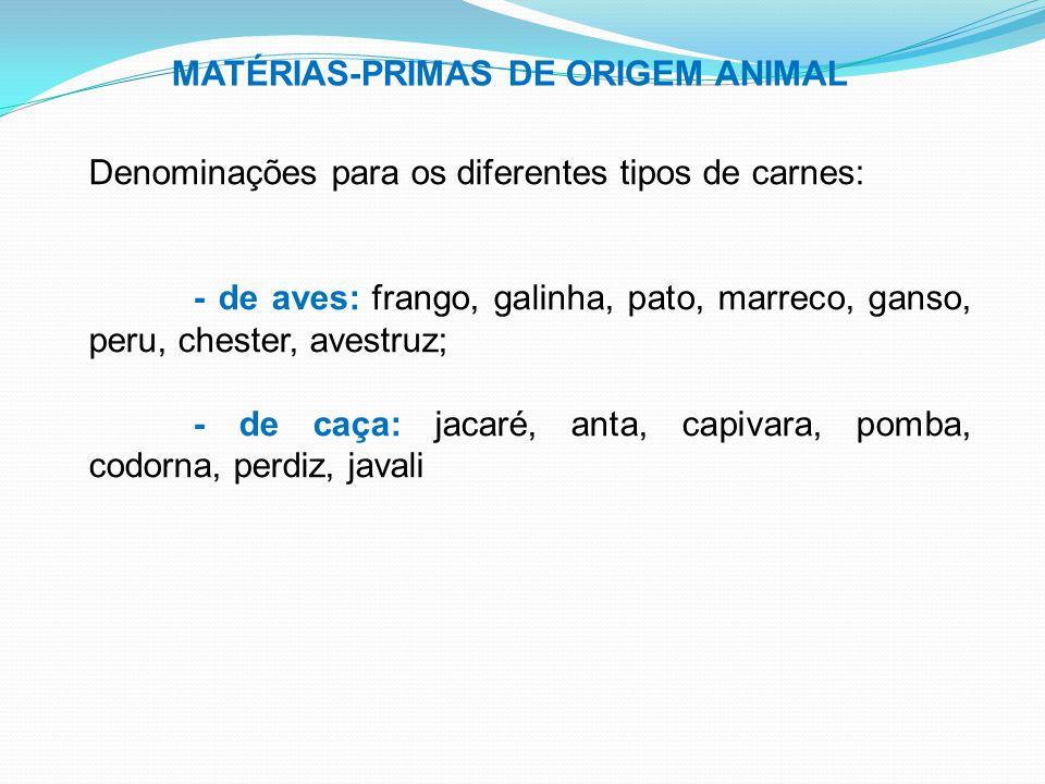 MATÉRIAS-PRIMAS DE ORIGEM ANIMAL
