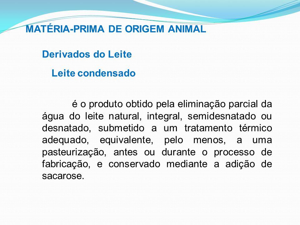 MATÉRIA-PRIMA DE ORIGEM ANIMAL