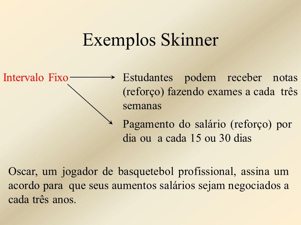 Exemplos Skinner Intervalo Fixo
