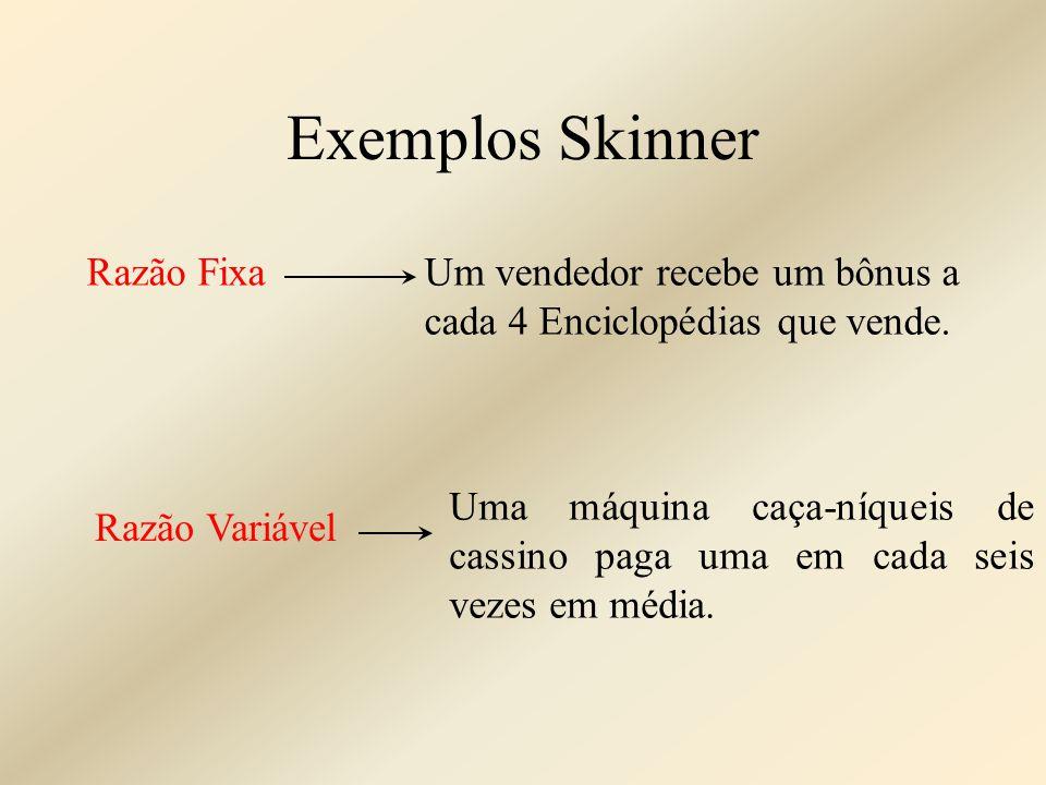 Exemplos Skinner Razão Fixa