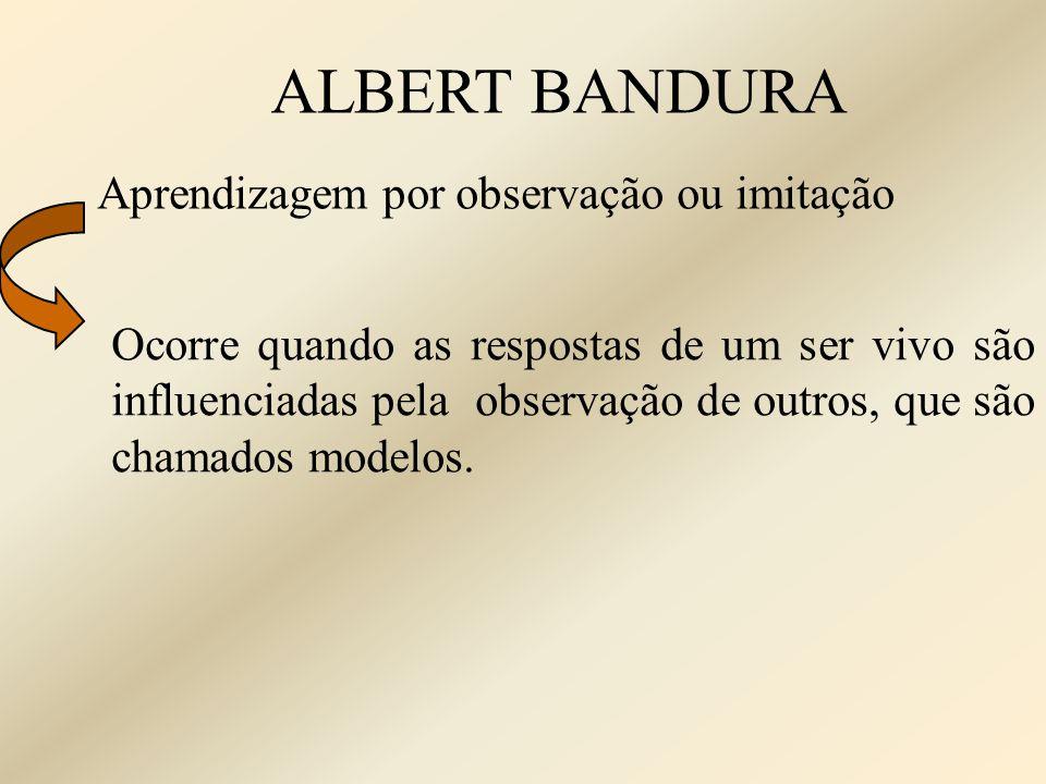 ALBERT BANDURA Aprendizagem por observação ou imitação