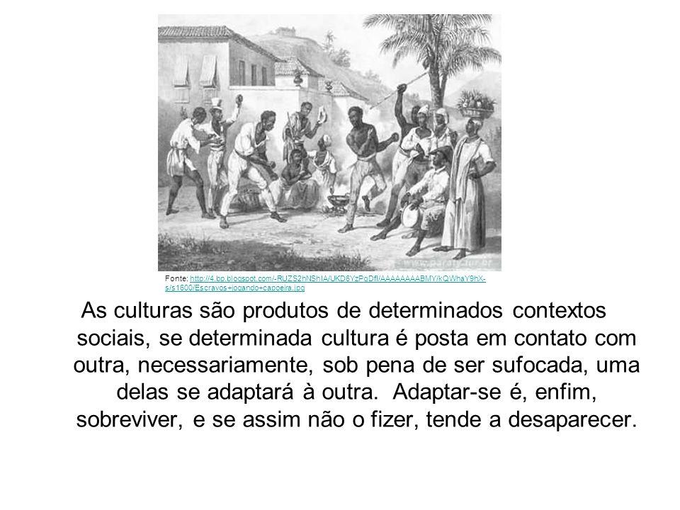 As culturas são produtos de determinados contextos sociais, se determinada cultura é posta em contato com outra, necessariamente, sob pena de ser sufocada, uma delas se adaptará à outra. Adaptar-se é, enfim, sobreviver, e se assim não o fizer, tende a desaparecer.