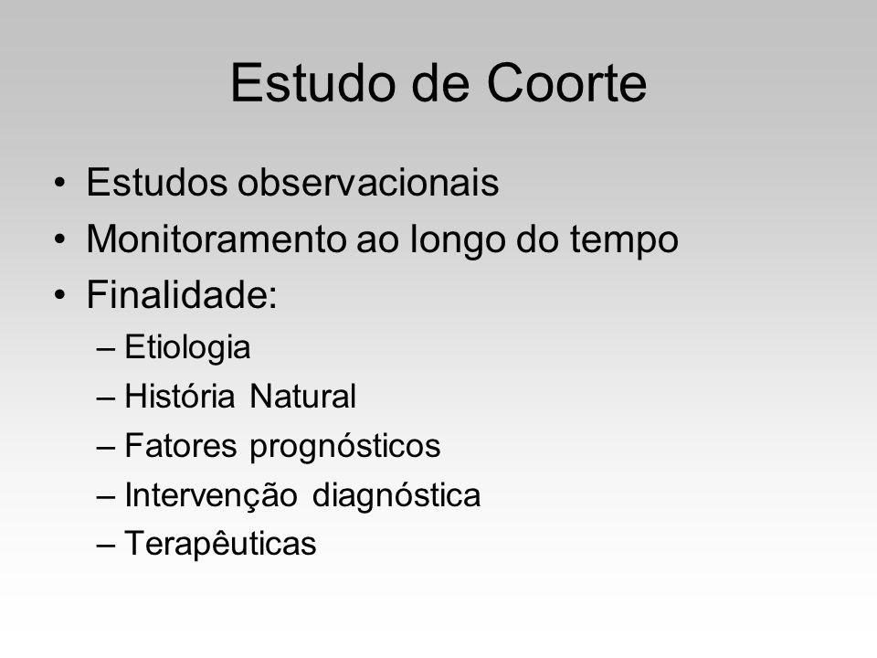 Estudo de Coorte Estudos observacionais