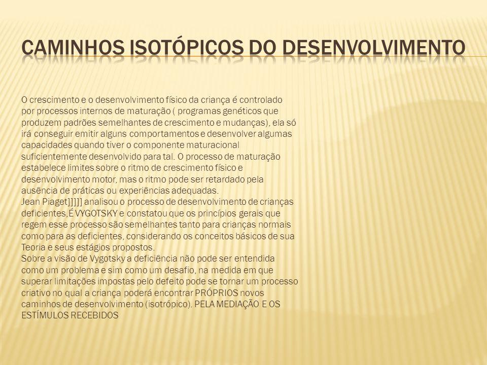 CAMINHOS ISOTÓPICOS DO DESENVOLVIMENTO