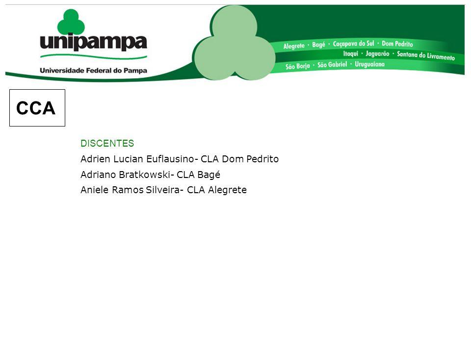 CCA DISCENTES Adrien Lucian Euflausino- CLA Dom Pedrito