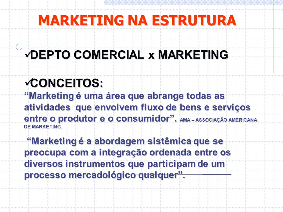 MARKETING NA ESTRUTURA