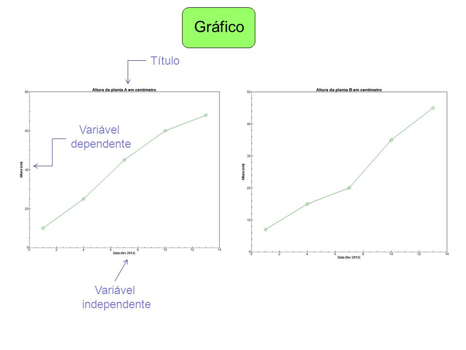 Gráfico Título Variável dependente Variável independente