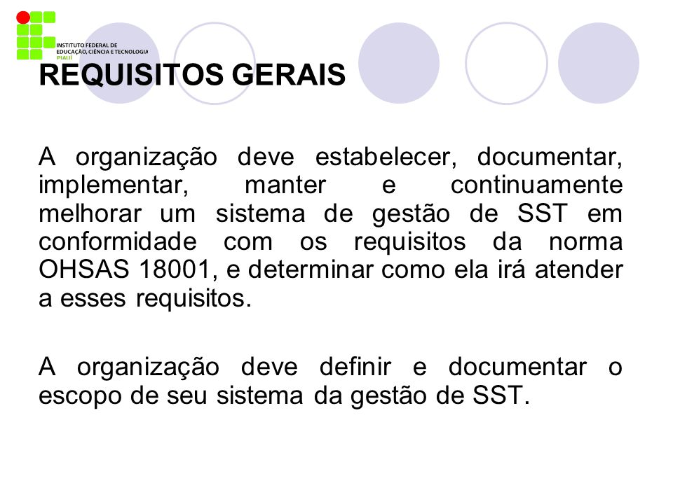 REQUISITOS GERAIS