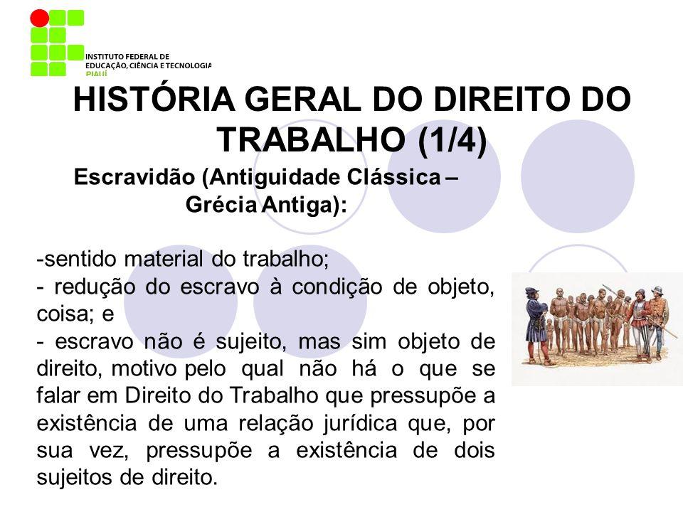 HISTÓRIA GERAL DO DIREITO DO TRABALHO (1/4)