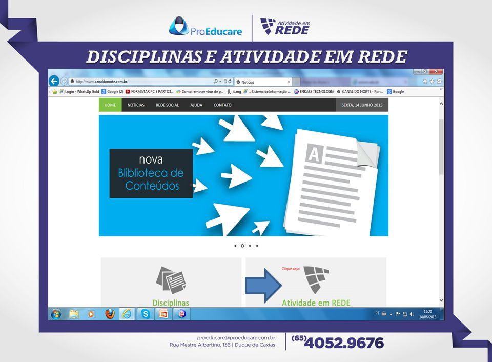 DISCIPLINAS E ATIVIDADE EM REDE