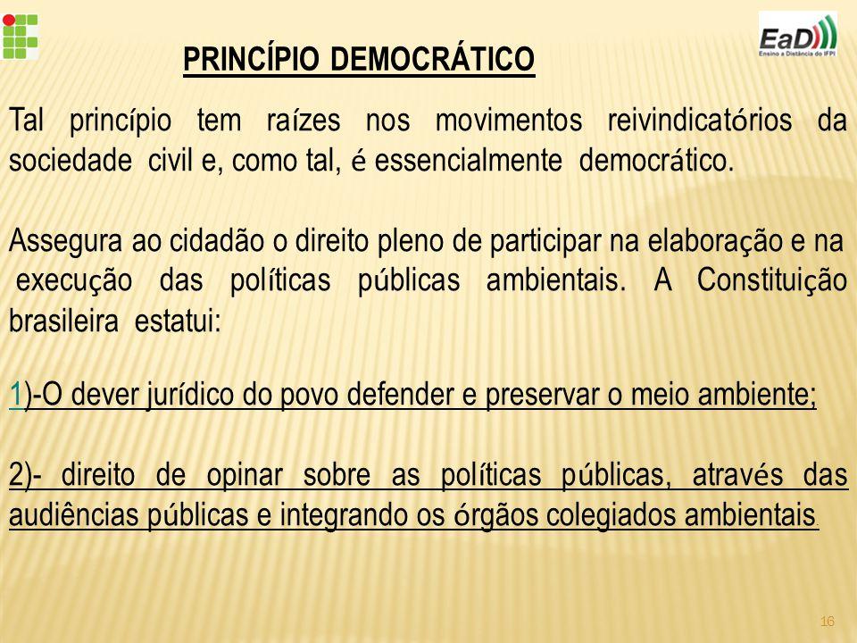 PRINCÍPIO DEMOCRÁTICO