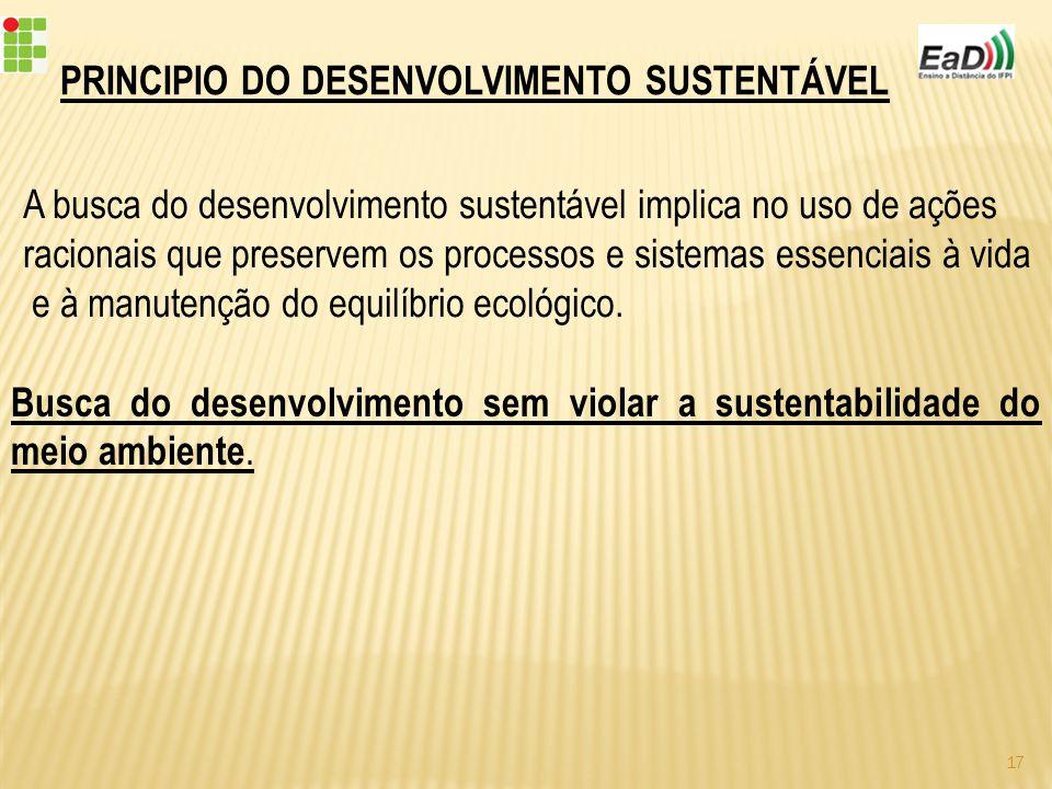 PRINCIPIO DO DESENVOLVIMENTO SUSTENTÁVEL