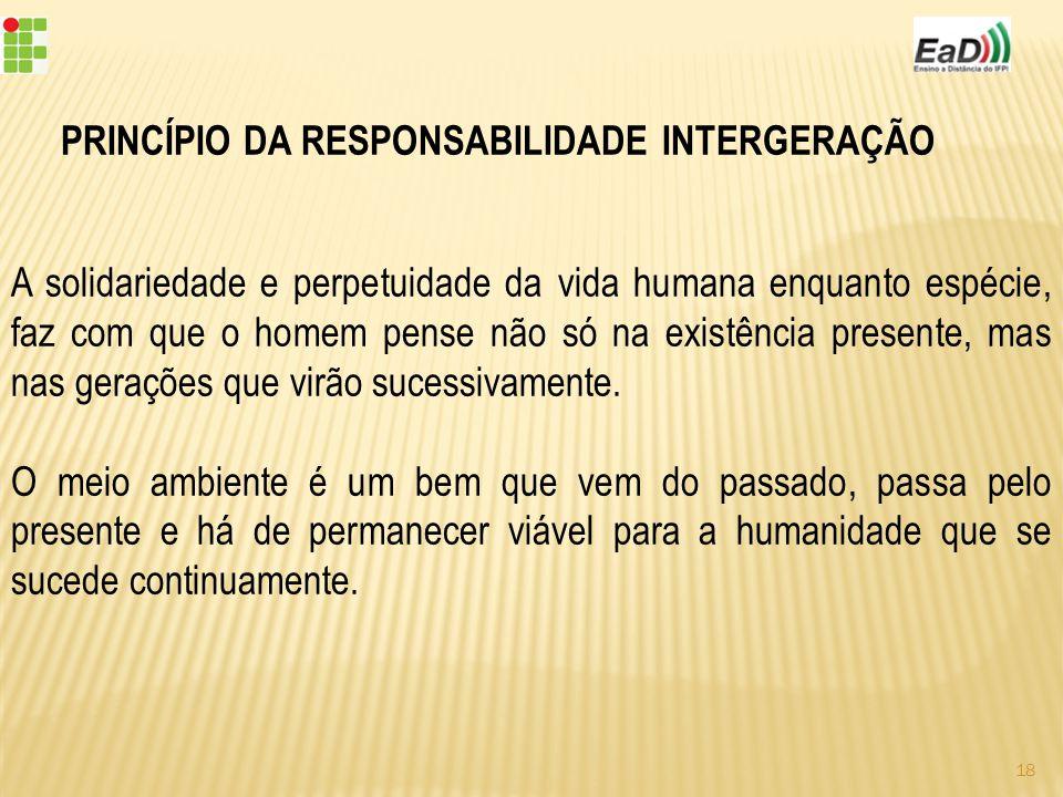PRINCÍPIO DA RESPONSABILIDADE INTERGERAÇÃO
